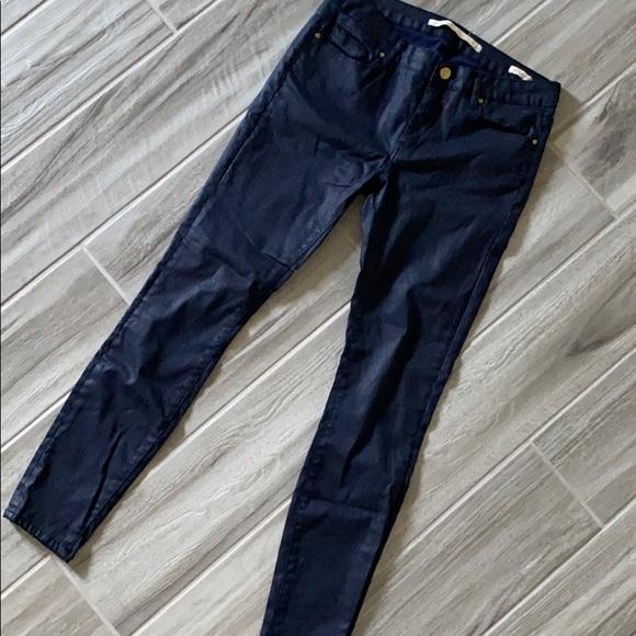 Zara blue lacquer jeans sz 26